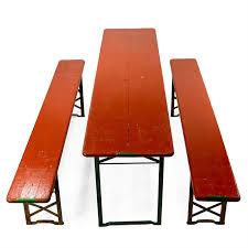 german beer garden table and bench vintage german beer garden table set collection bambeco
