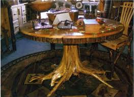 Glass Top Pedestal Dining Tables Tree Trunk Dining Table With Glass Top U2013 Zagons Co