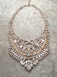 necklace rhinestone images Gold egyptian rhinestone bib necklace bobbles and lace jpg