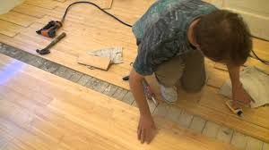 How To Put Laminate Flooring Down How To Install A Bamboo Floor Part 2 Youtube