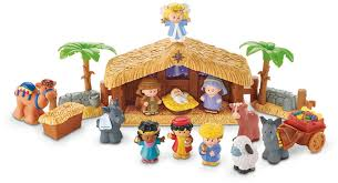 Outdoor Plastic Light Up Nativity Scene by Amazon Com Fisher Price Little People A Christmas Story Toys U0026 Games