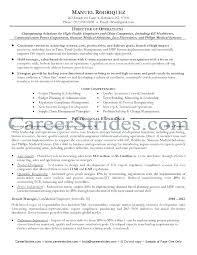 director of operations resume director of operations resume sle