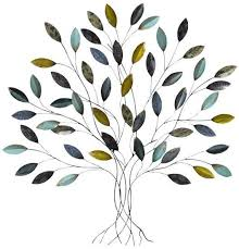 baxley blue gold metallic tree home accessories at