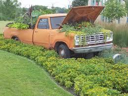 truck garden ornaments home design