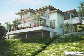 steep slope house plans slope house plan with 3 bedrooms id 23402 maramani