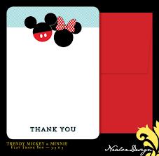 Minnie Mouse Invitation Card Nealon Design Trendy Modern Mickey U0026 Minnie Birthday