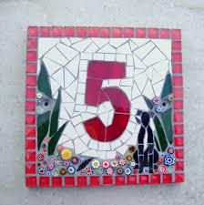 glass door number signs mosaic dog house number christmas custom nameplate door number
