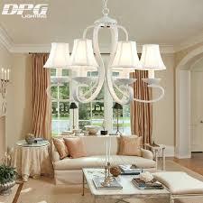 lumiere pour chambre blanc tissu ombre de fer lustre luminaires luminaria lustre