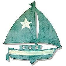 wooden sailboat silhouette from suzanne nicoll studio