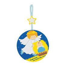 angel kissing baby jesus christmas ornament craft kit