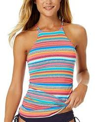 laundry by shelli segal bohemian high neck tankini top available