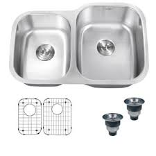 16 Gauge Kitchen Sink by Ruvati 16 Gauge Stainless Steel 34 Inch Double Bowl Undermount