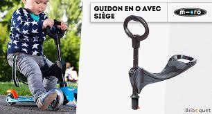 avec siege guidon en o avec siège pour trottinette mini micro micro mobility