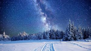 Way To Winter Way Winter Sky Wallpaper Nature And Landscape