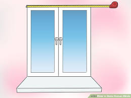 How To Hang Roman Blinds Instructions How To Make Roman Blinds With Pictures Wikihow