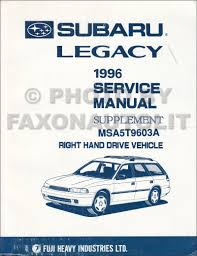1995 1997 subaru legacy repair shop manual 7 volume set original