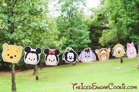 Mickey Mouse Flag Diy Birthday Blog Tsum Tsum Disney Characters Birthday Party Flag