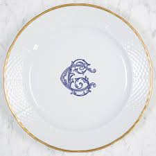 monogrammed dishes nicholas monogram monogrammed dishes dinnerware wedding