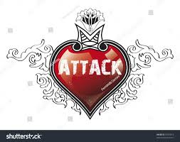 heart attack illustration over white background stock illustration
