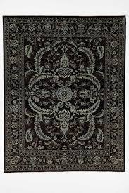 traditional chobi ziegler oriental rug with borders black and blue