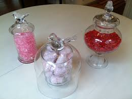 valentines day apothecary jars and clear vases