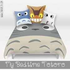 Duvet Bed Set Totoro Bed Set Duvet Bedding Pillow Cover Kawaii My Neighbor