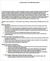 marketing officer job description sample 9 examples in word pdf