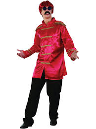 freddie mercury halloween costume 60s 70s sergeant pepper fancy dress sgt red jacket beatles pop