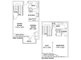 1 bedroom with loft floor plans floor plans of heritage landing apartments flats townhomes