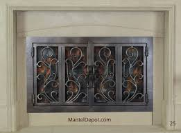 hand forged iron fireplace doors fd025 from mantel depot in san diego