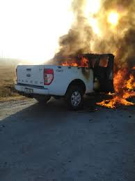 jeep ranger watch ford ranger burned on the r546 road at brendan village