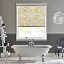 hydrangea yellow roller blind by style studio powder room