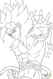 super saiyan 4 coloring page free printable coloring pages