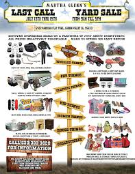 martha glenn yard sale flyer on behance