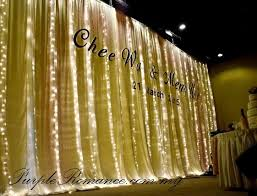 wedding backdrop fairy lights vintage rustic wedding decoration restaurant silver