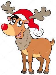 Imagenes Animadas De Renos De Navidad | dibujos animados de reno de navidad vector de stock clairev 2148009