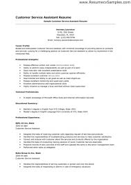 Objective Resume Customer Service Customer Service Template Resume Resume Template And