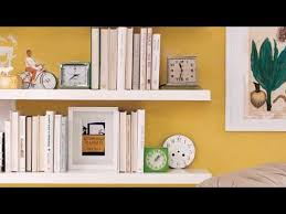 How To Decorate A Bookcase How To Decorate Shelves Real Simple Youtube