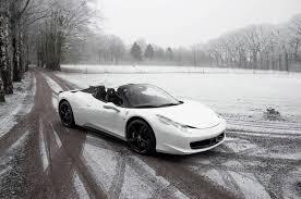 Ferrari 458 Matte Black - bianco ferrari 458 spider out in the snow gtspirit
