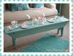 Beach Chic Home Decor Beach Chic Aqua Farm Style Bench Fox Hollow Cottage
