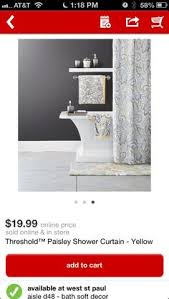 Target Paisley Shower Curtain - blue and brown paisley shower curtain target bathroom