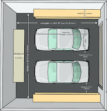 standard size 3 car garage best 2017oversized one and half