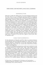Style Analysis Essay Example Discourse And Second Language Learning Springer