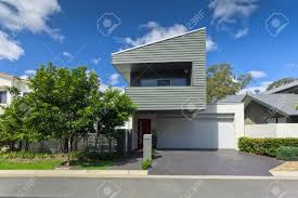 modern australian house front stock photo picture and royalty