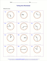 homeschool math telling time worksheets telling time worksheets