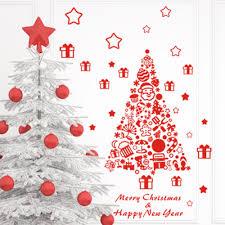 Christmas Decoration For Cheap Xmas11 Christmas Decoration Diy Christmas Trees Vinyl Wall Window
