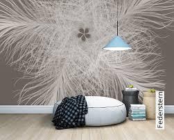 Schlafzimmer Mit Holz Tapete Fototapete Federstern Die Tapetenagentur