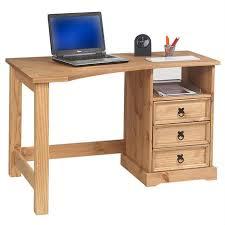 bureau en pin pas cher bureau en pin massif tequila style mexicain finition cirée idimex