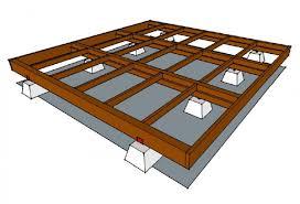 how to frame a floor diy prefab