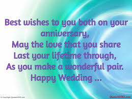 wedding quotes best wishes best wishes to you both on your anniversary greetings quotes4sms